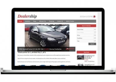 Car Showroom Website Design