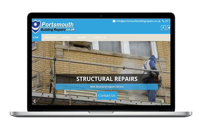 Building Repairs Website Design